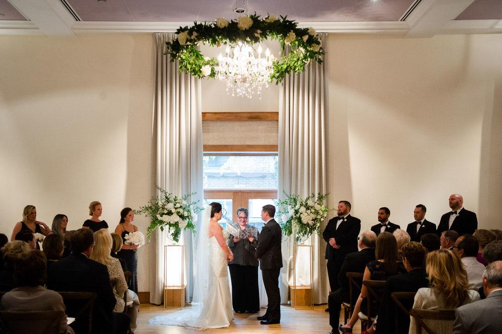 Ivy Room Chicago wedding ceremony.