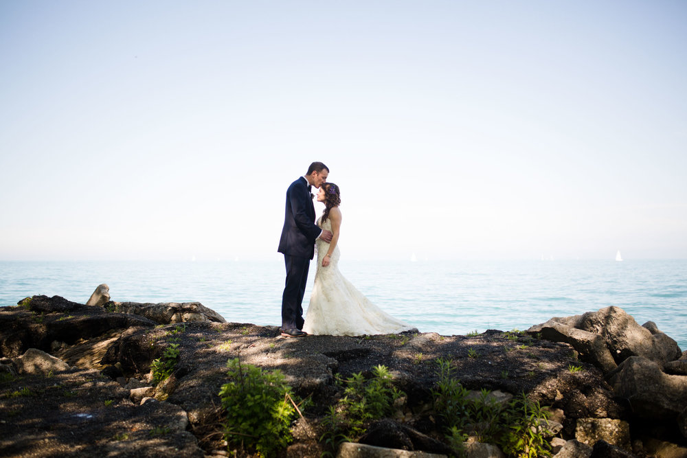 Northerly Island Chicago wedding portraits