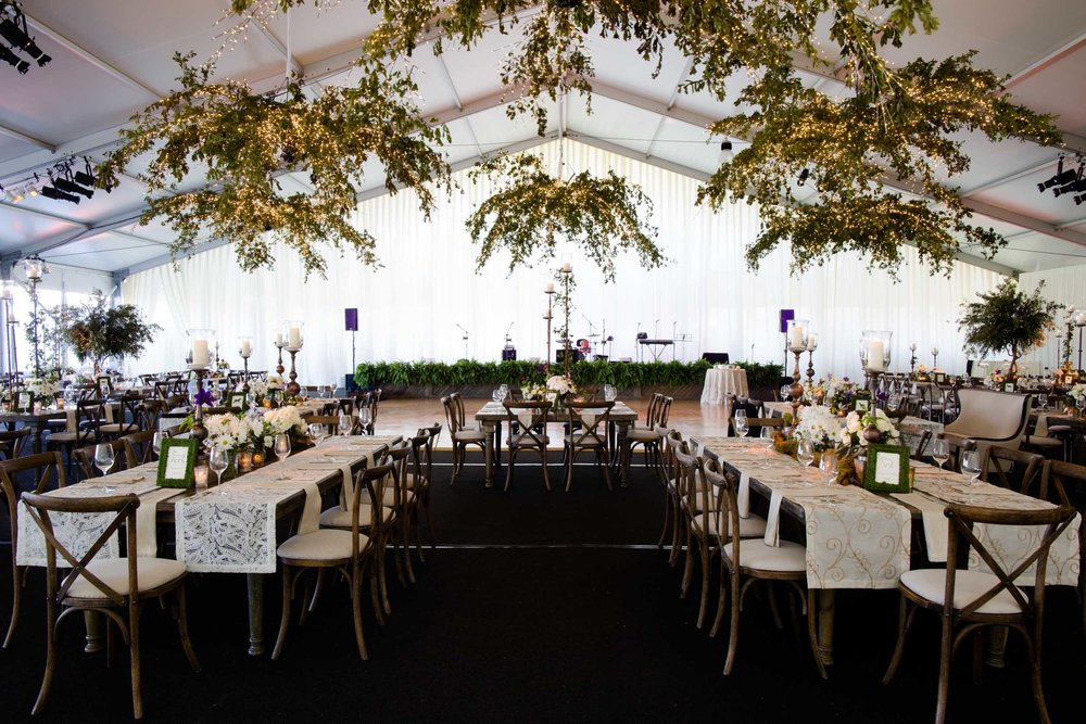 Tent wedding Northerly Island wedding decor