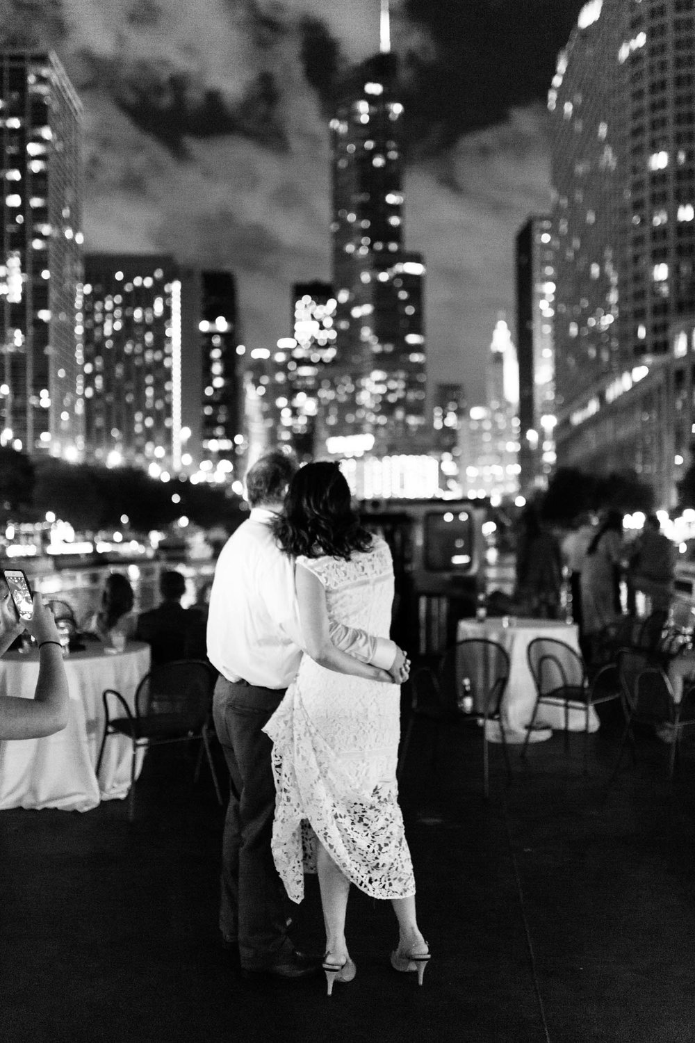 Chicago river wedding on a boat