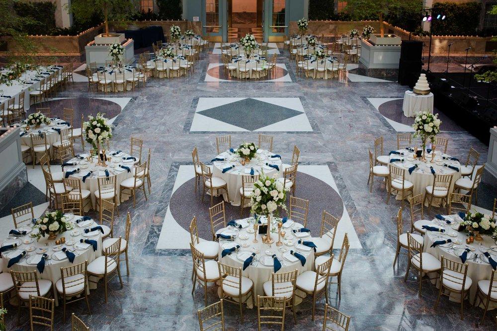 Harold washington library wedding decor