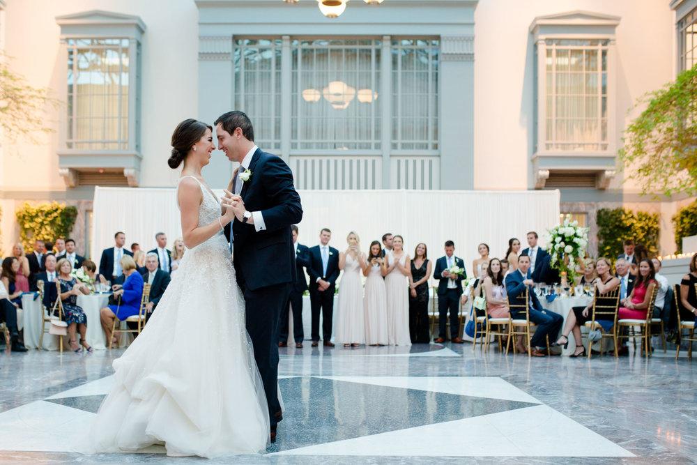 The wedding reception at Harold Washington Library was beautiful.