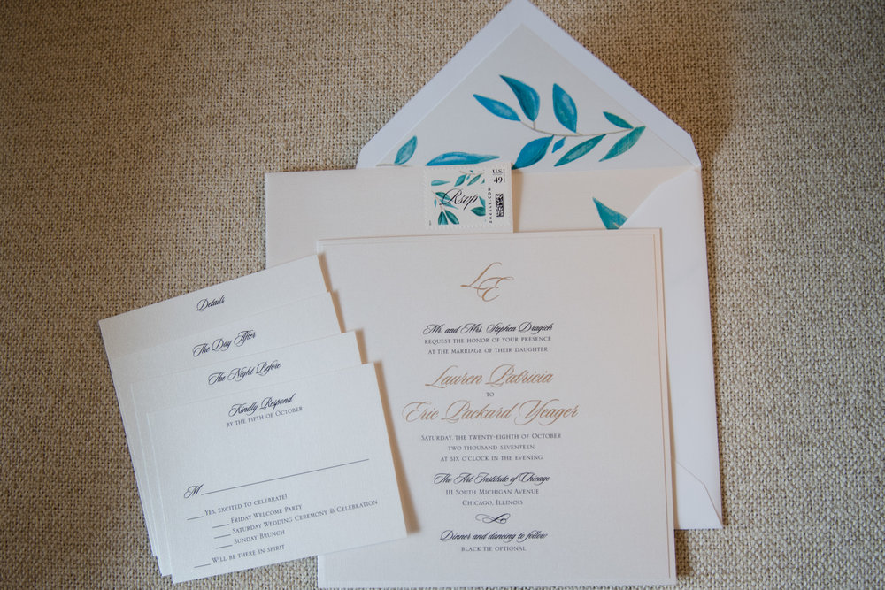 Invitation suite for destination Kiawah Island wedding