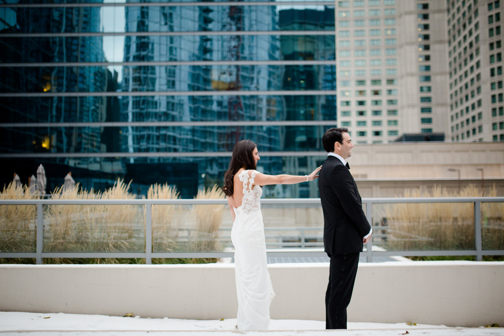 First Look Chicago Il Wedding