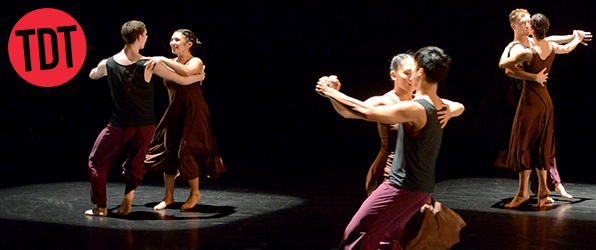 TDT company members performing  Animated Shorts,  one of four short works presented in  Animated , choreographed by Christopher House. Photograph: Guntar Kravis, 2016.