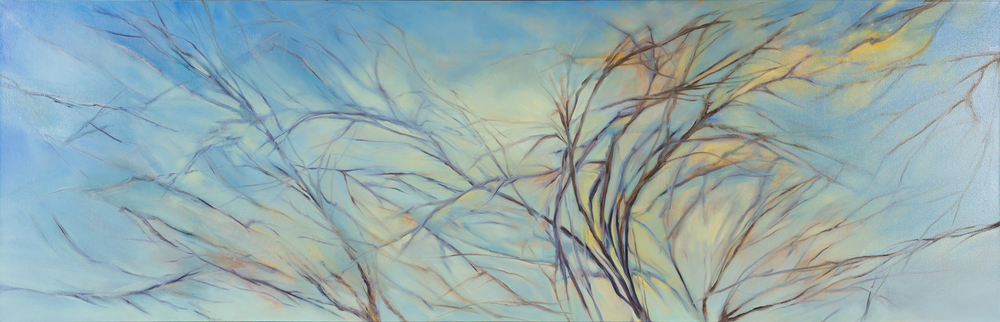 Above the Chimney Tops, 2016, Oil on canvas, 27 x 84 inches