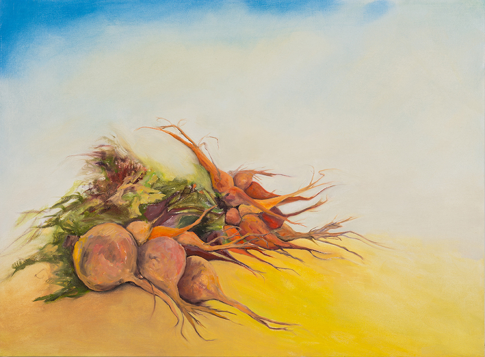 Roots in the Wind , 2014, Oil on canvas, 36 x 48 inches