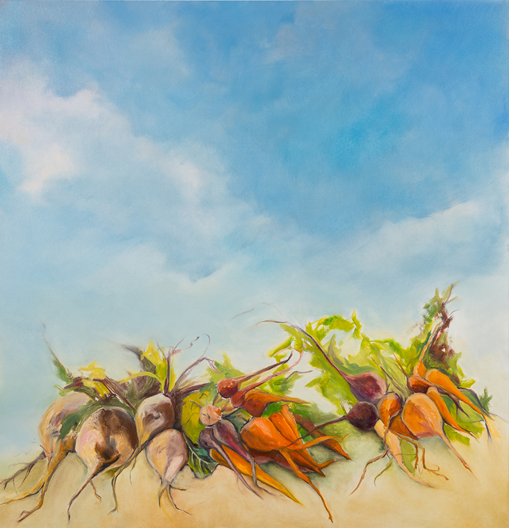 Roots & Rutabagas , 2014, Oil on canvas, 54 x 53 inches