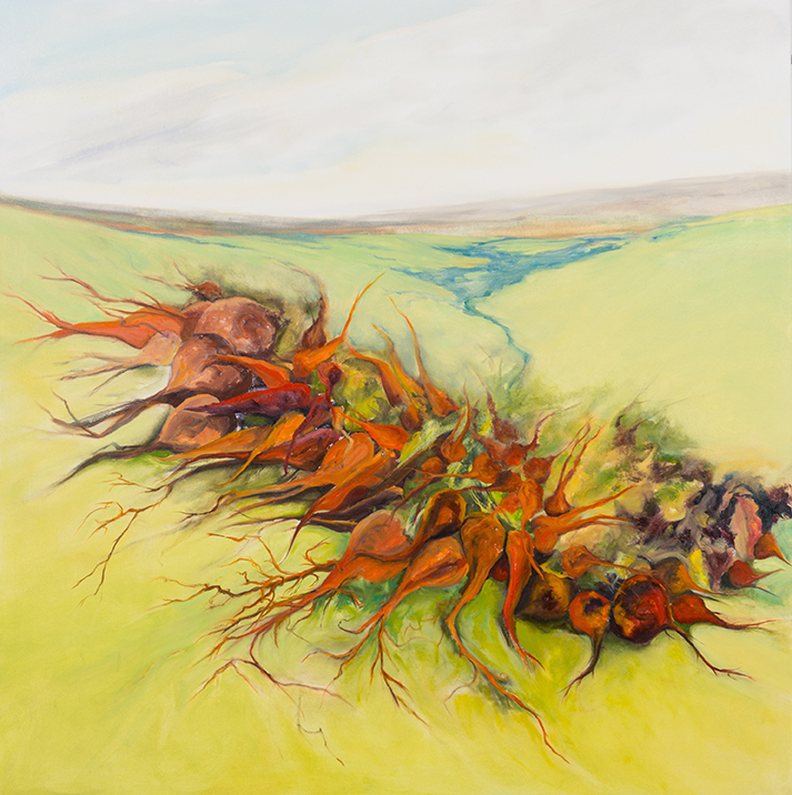 Roots & the Ridge , 2014, Oil on canvas, 54 x 53 inches