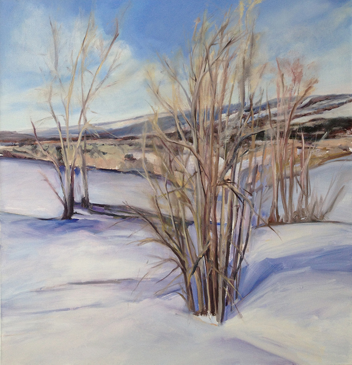 Snow Day , 2015, Oil on Canvas , 42 x 41 inches (Private Collection, Becket, MA)