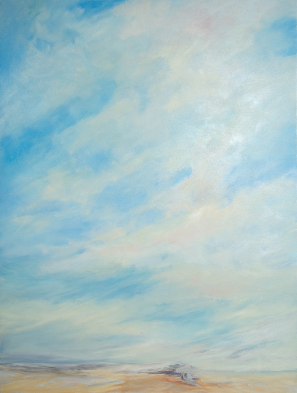 Winter Afternoon Sky, 2009, Oil on Canvas, 72 x 54 inches (Private Collection)