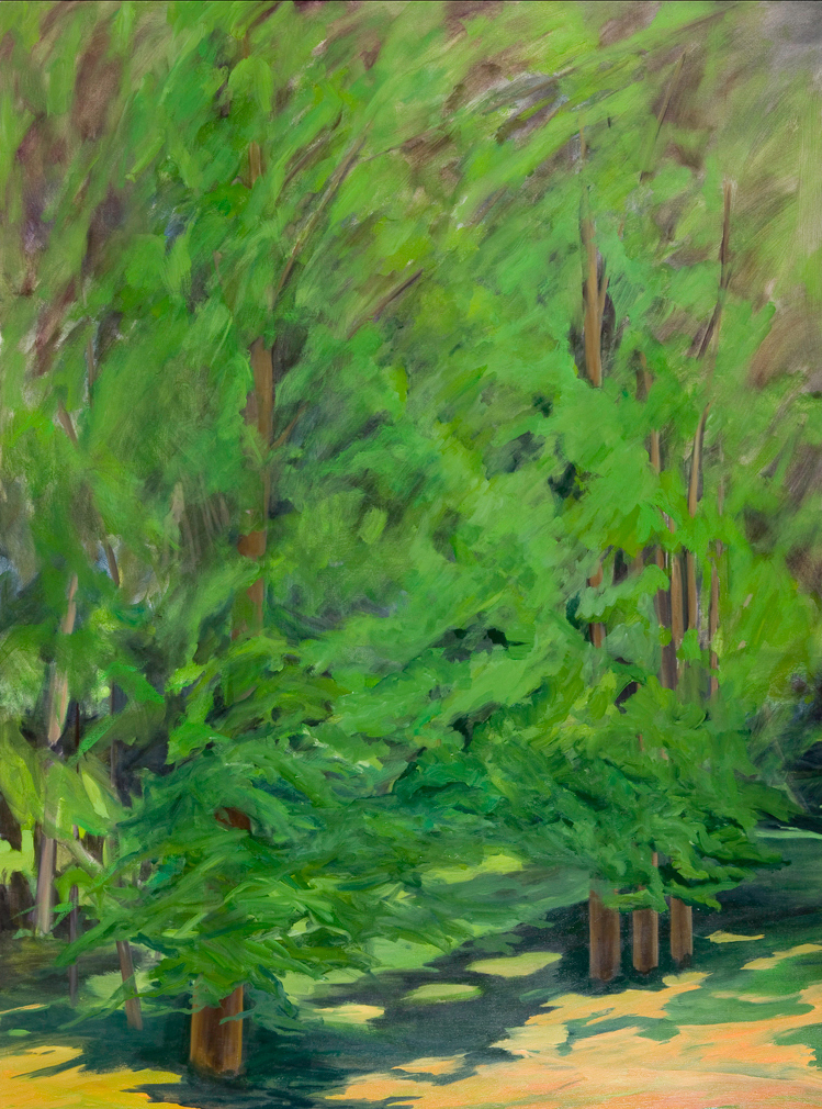 Gioia Verde I , 2008, Oil on Canvas, 72 x 54 inches (Private Collection)
