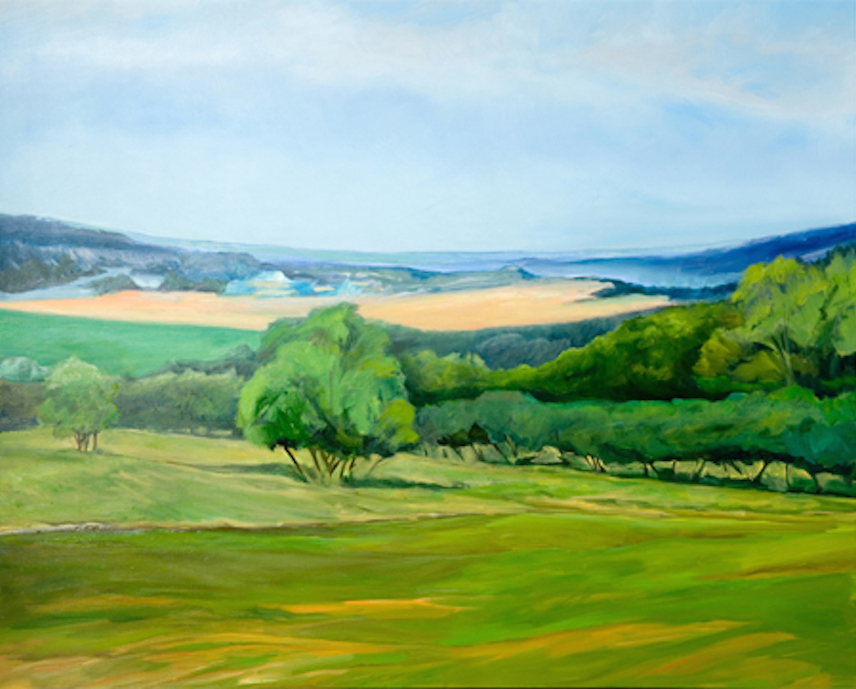 Summer , 2006, Oil on canvas,  48 x 60 inches (Private collection)
