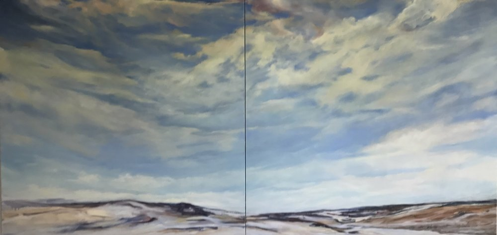 Referential,  2017, Oil on Canvas, 52 x 108 inches, (Private Collection, Toronto, Ont.)