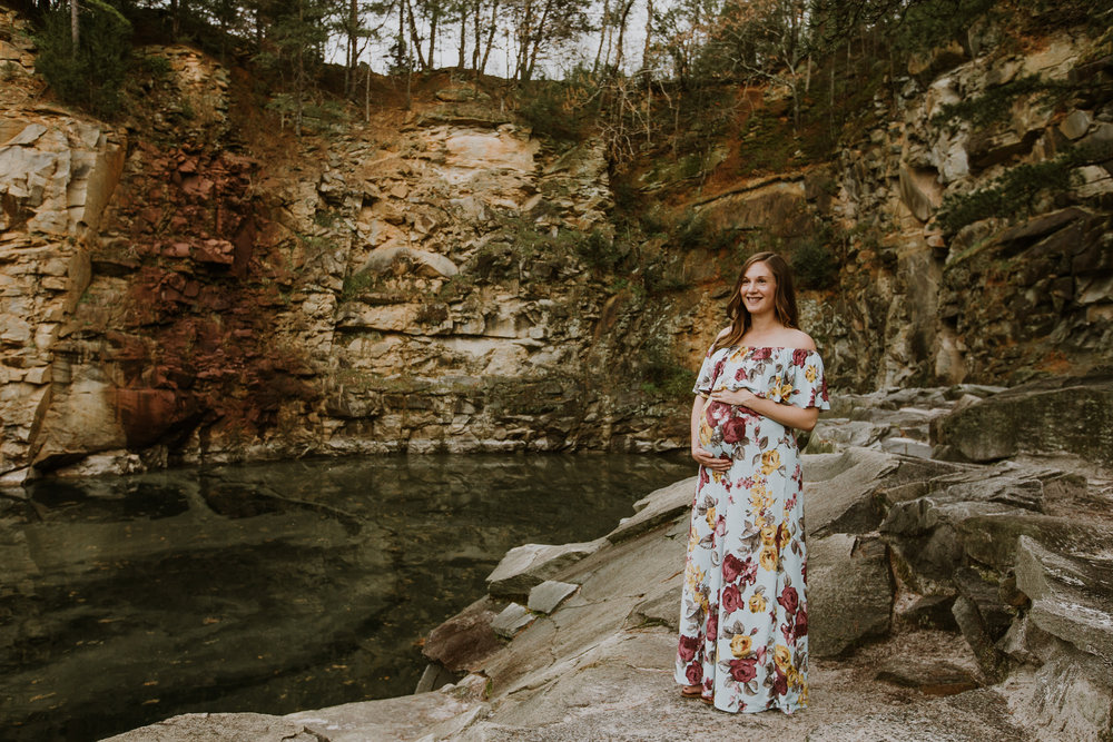 Aubryn + James \\ Maternity Session at the Quarry at Carrigan Farms