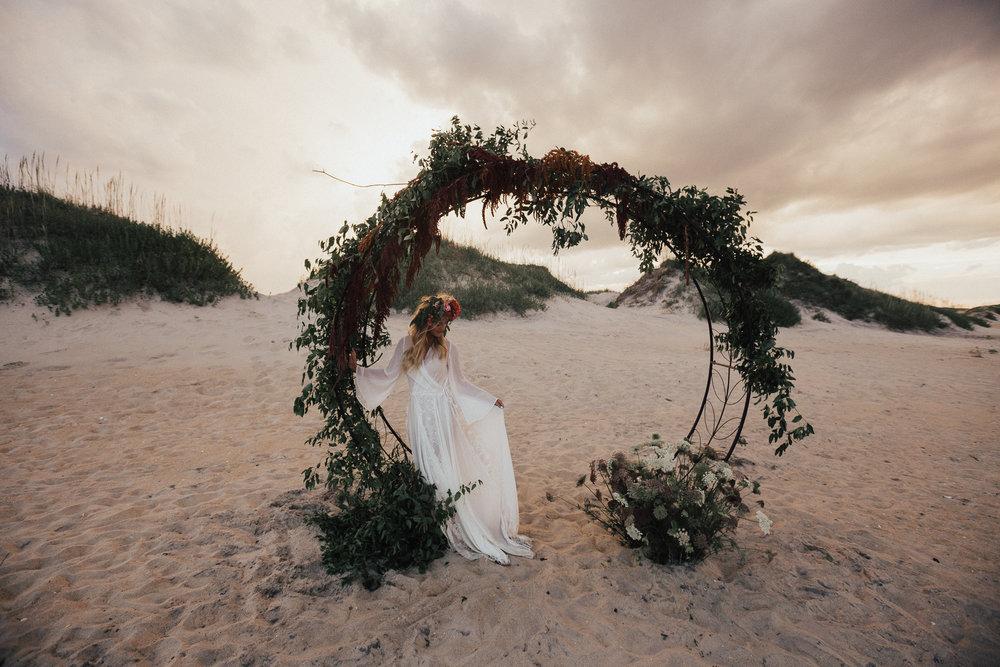 Bohemian Coquina Beach Bridal Styled Shoot