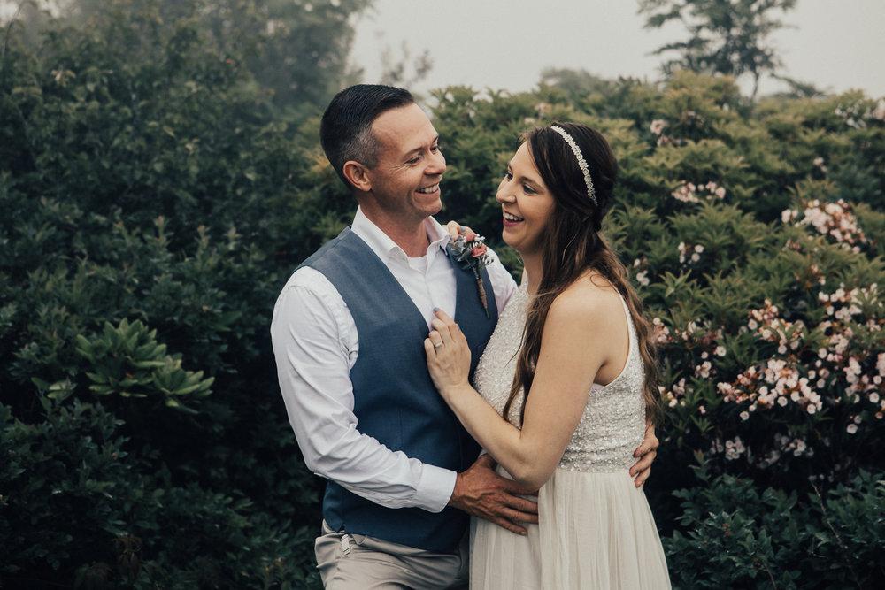 Romantic Elopement at Craggy Gardens \\ Megan + Brandon