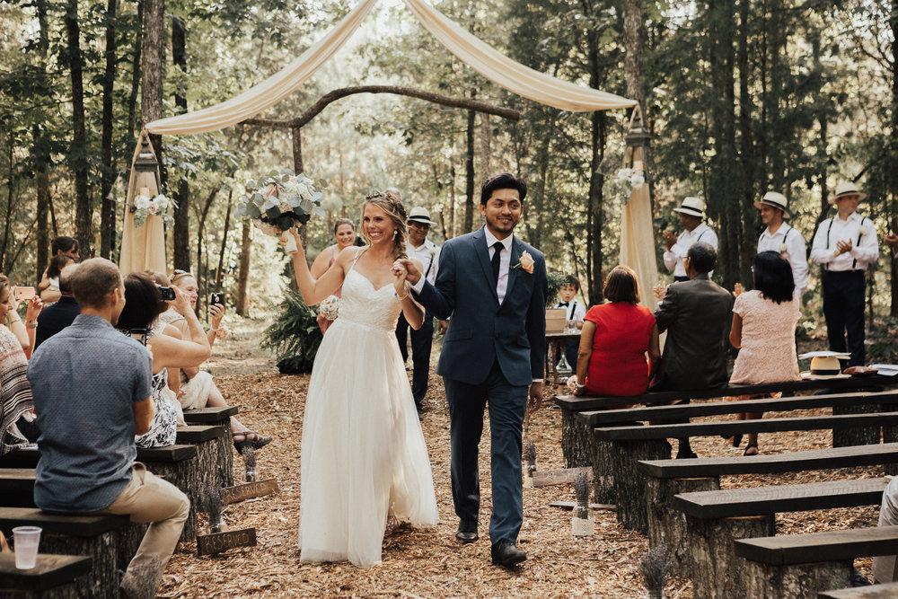 A Woodland Wedding \\ Amanda & George