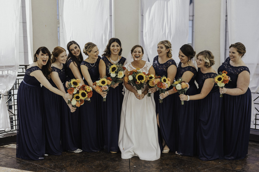 Bridesmaid Dresses:  David's Bridal