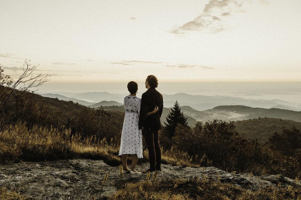Fall Sunrise Engagement Session \\ Eric & Leah