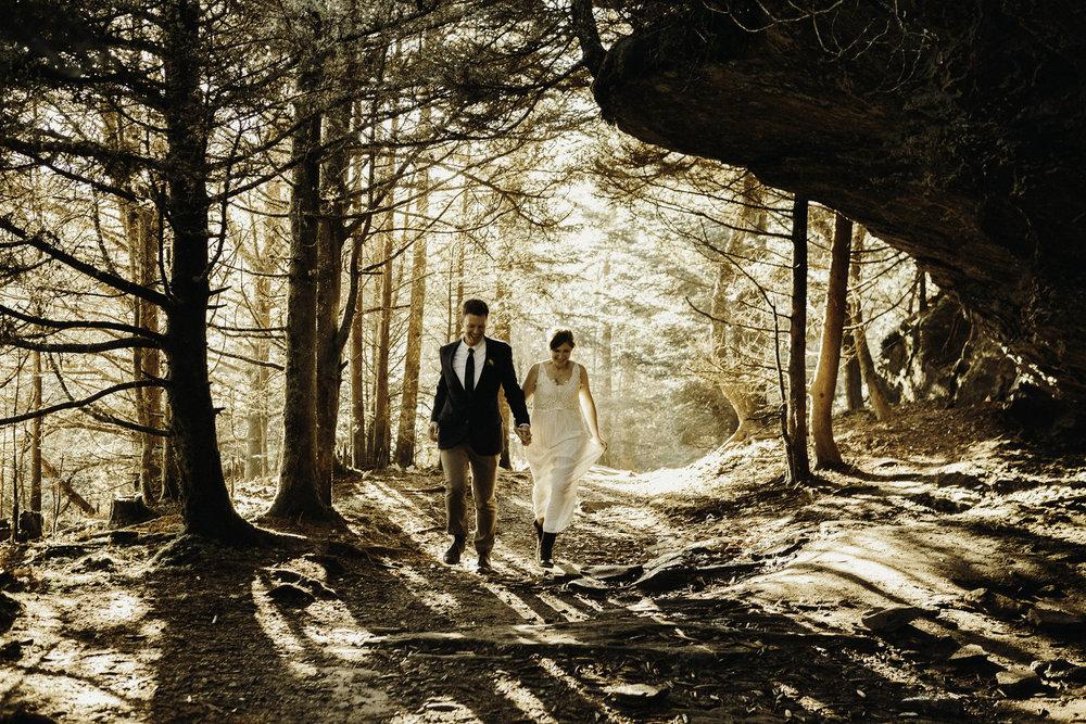Magical Mt. Mitchell Elopement \\ Becky & Daniel