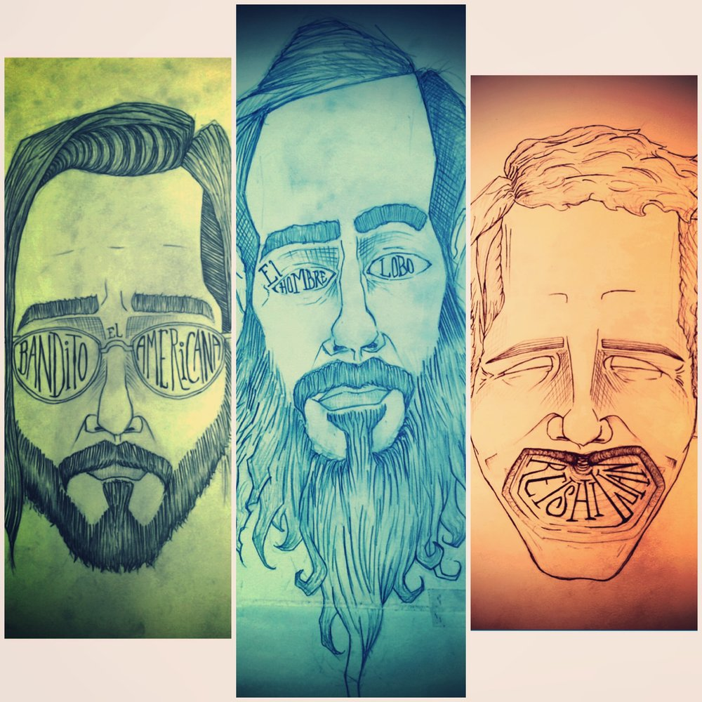 "Bob ""Bandito"" Demakis - Guitar, Vox  George ""Lobo"" Chalifoux - Bass, Howling  Derek ""Reishi Wan"" Walls - Drums, Vox"