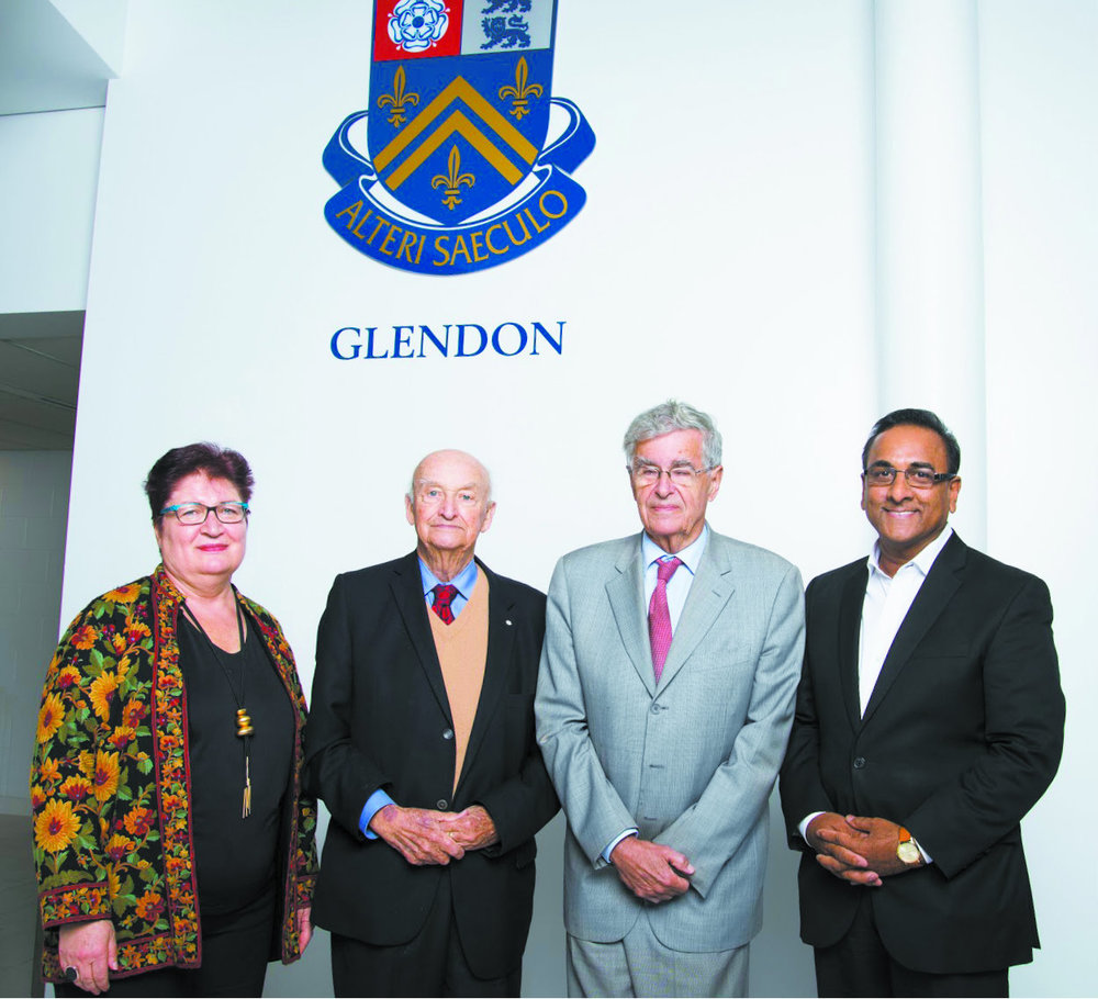 Left to right: Annie Demirjian, Dr. Peter Russell, The Hon. Louis LeBel, Dr. Radha Persaud