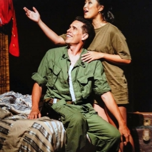 Here's me as Chris in Miss Saigon alongside the awesome Juno Apalla as Kim. (I look like President Obama in this picture too! lol)