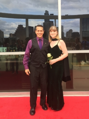 My wife and I at the GAHSMTA red carpet gala at the Long Center(Austin, TX)