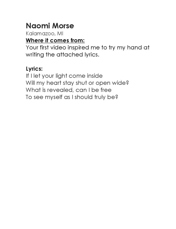 Lyric i am free lyrics : Am I Awake Campaign — Noah Aronson Music