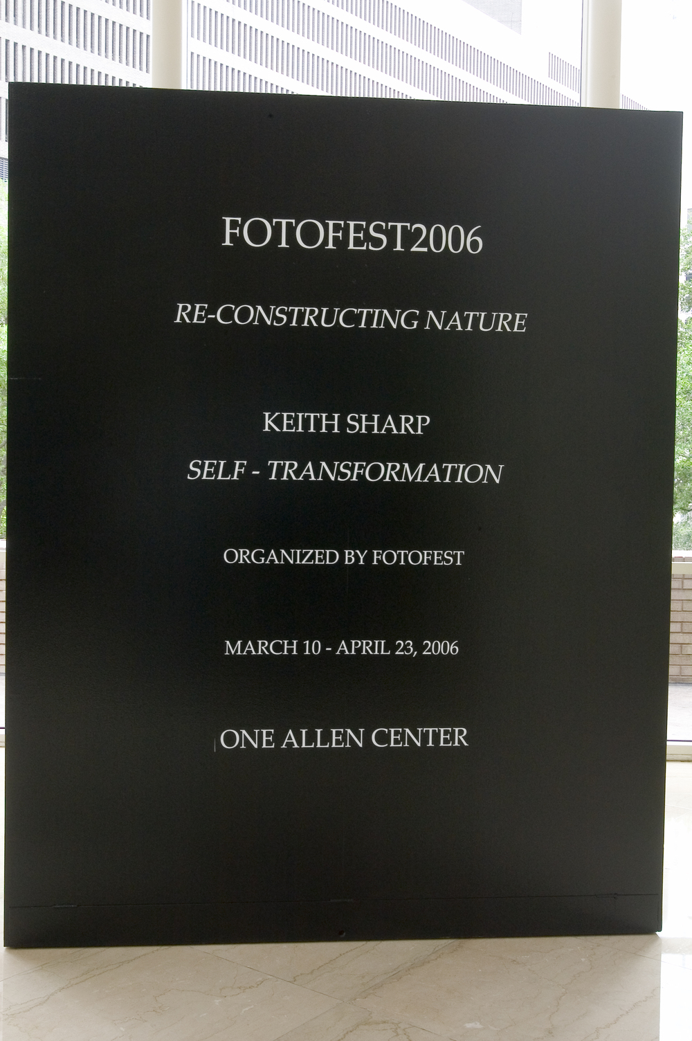 Keith Sharp FotoFest, Houton, TX