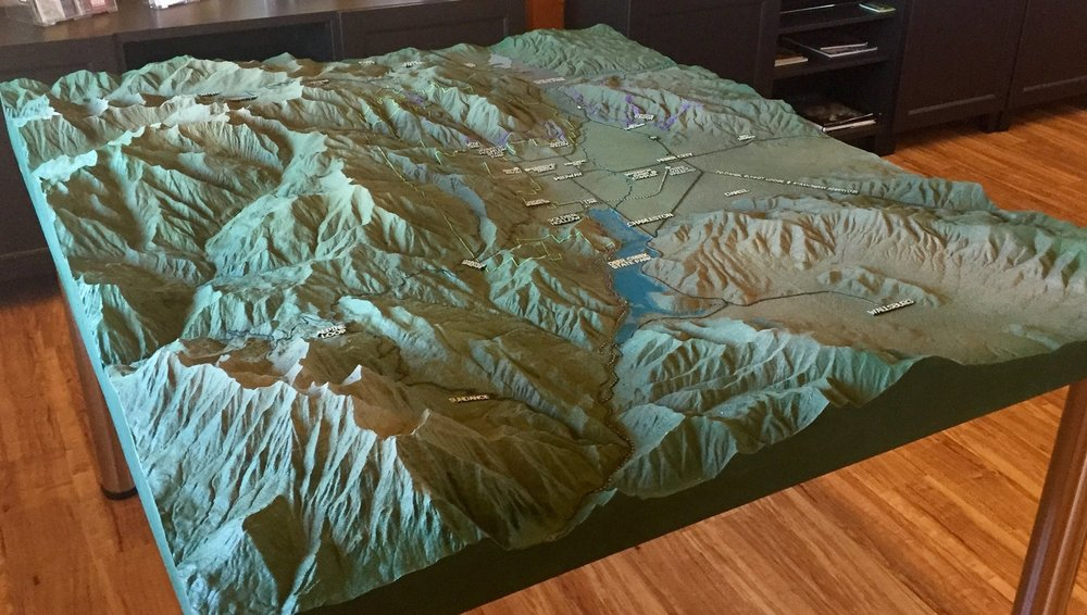 Topographic map of Logan Canyon and Cache Valley for Nature Center