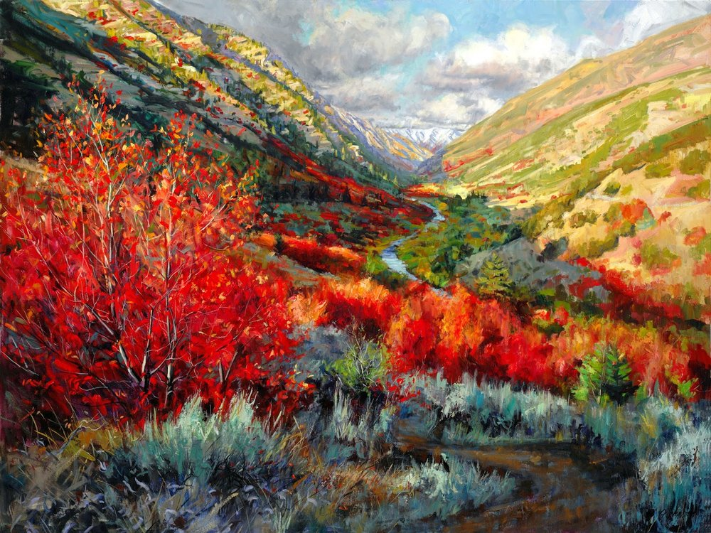 Riverside Trail original art by jeremy winborg logan canyon utah cache valley.jpg
