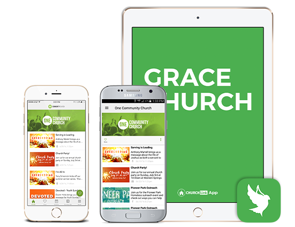 Affordable Custom Church App Screenshots