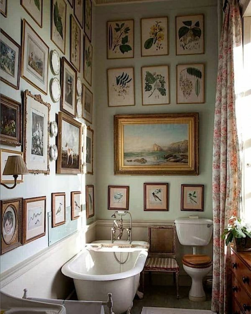 Bathroom at Milton Hall — From the book  The English Country House  Photo by James Fennell