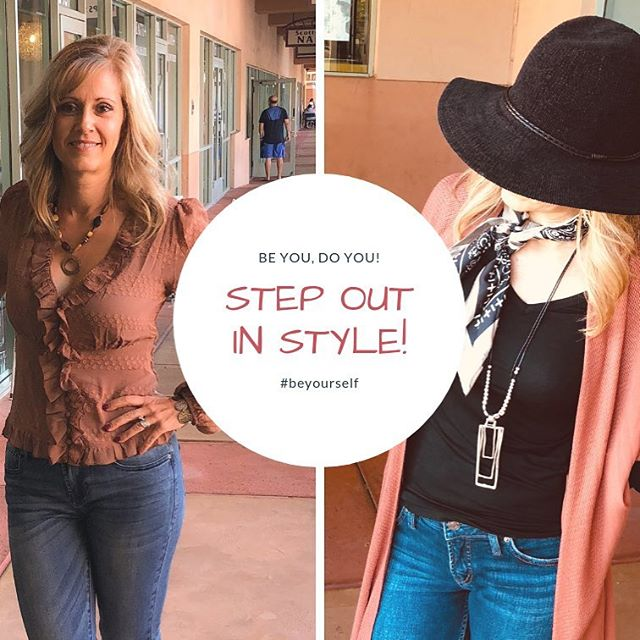 Step out in style this weekend! . Shop these looks and all our new arrivals! . Kimono and blouse shown here also available in black🙌🏼 . . . #newarrivals #fall #stepoutinstyle #beyourself #shophotpetunias #scottsdaleboutique #scottsdale #az