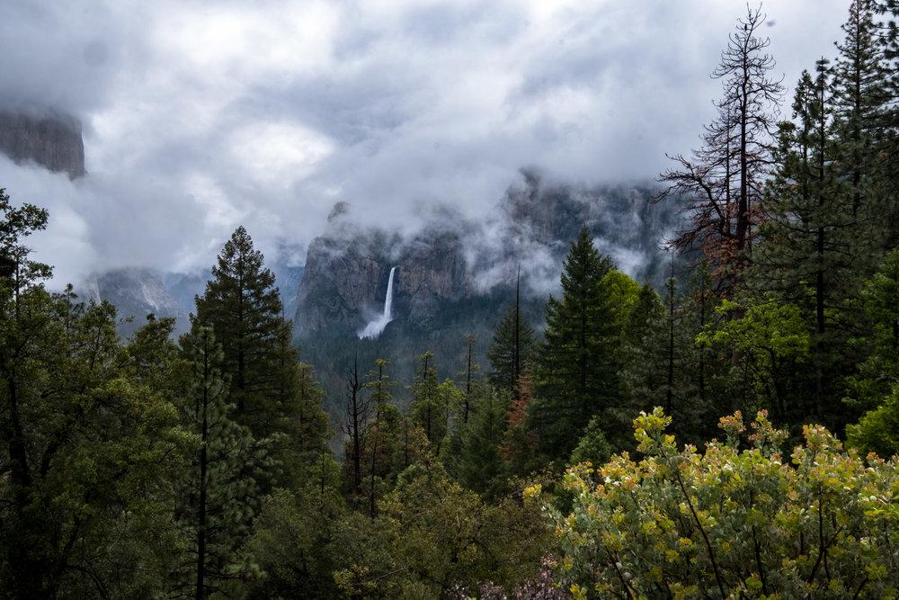 Bridal Veil Falls in Yosemite Valley