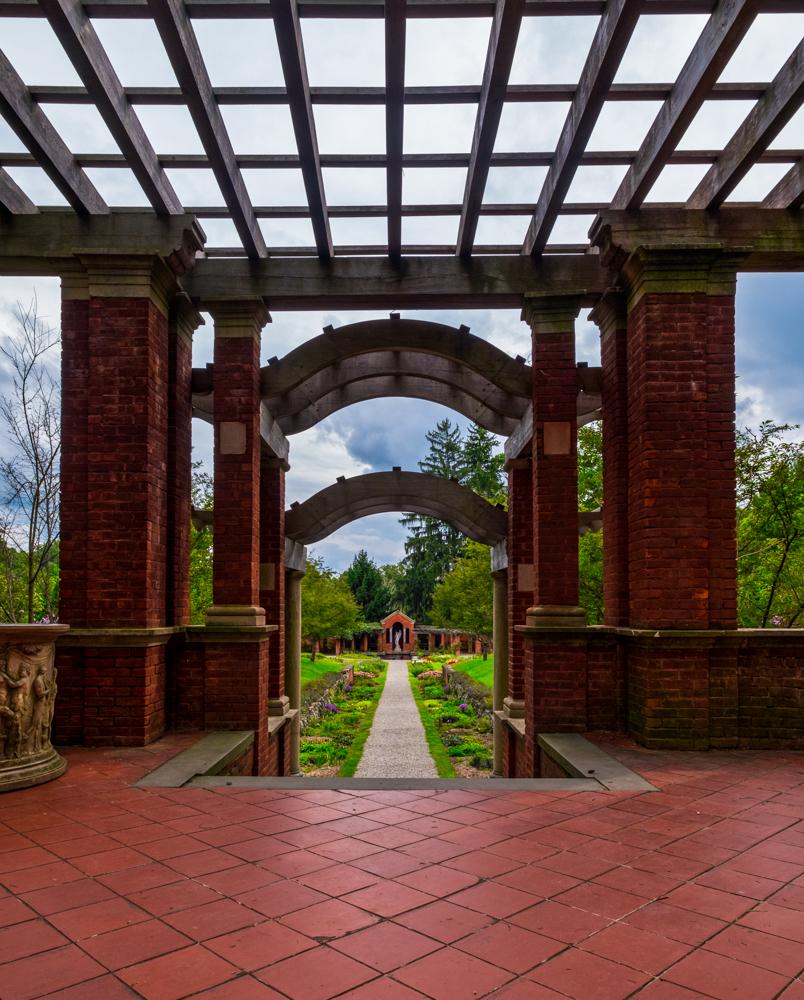 The Italian garden at the Vanderbilt Mansion.