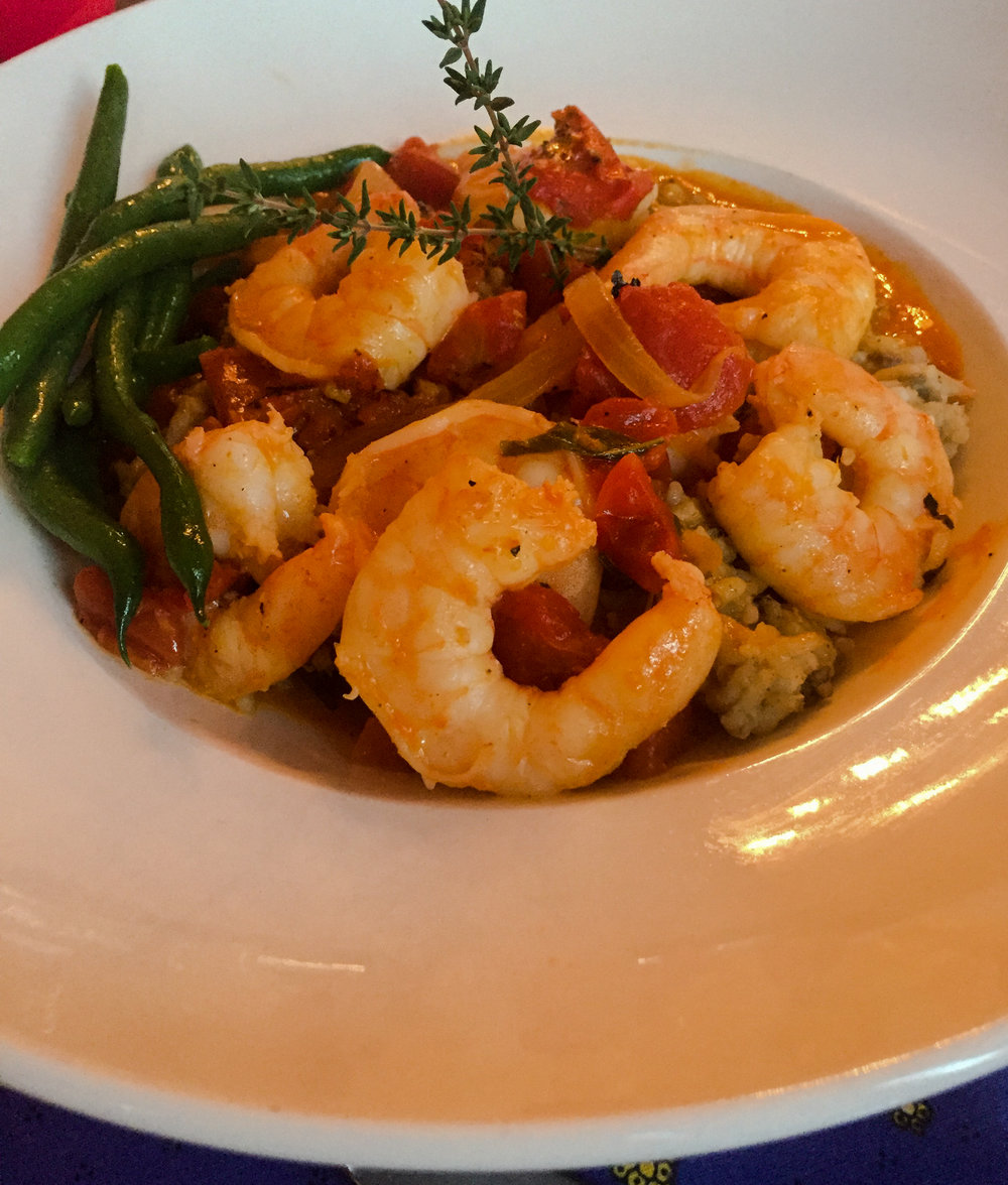 Cindy a risotto with shrimp