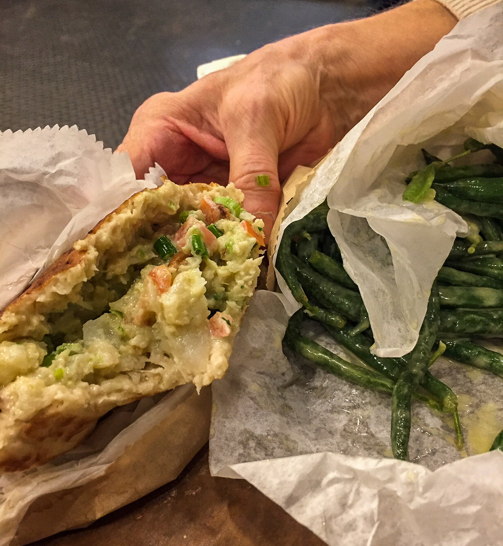 The Cauliflower Pita and Bag of Green Beans
