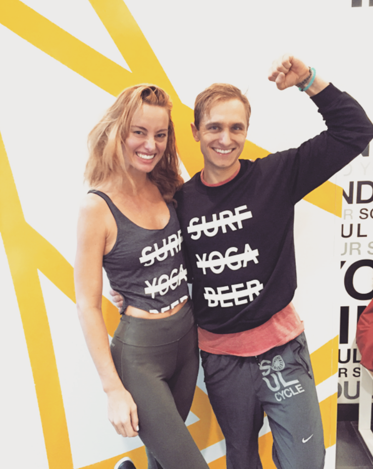 Senior SoulCycle Instructor, (and all-round inspirational human), Mantas Zvinas with SW, in NYC.