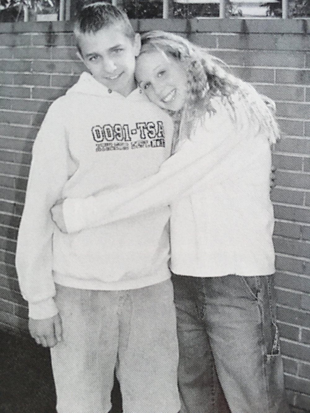 MANTAS + MELANIE (2001),by the end of Grade 8, Mantas & Melanie where named 'Cutest Couple' in the school Yearbook. [Oh! Our Hearts!!! - ED]  Image Credit: Mantas' Mum, Reda.