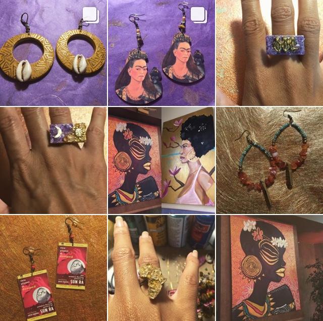 SUNNIE WALLFLOWER - Renaissance woman. Custom earrings & artwork.Owner: Janiah Vann-BradleyWebsite: SunnieWallflower.bigcartel.comInstagram: @SunnieWallflowerInquiries:sunnie.wallflower@gmail.com