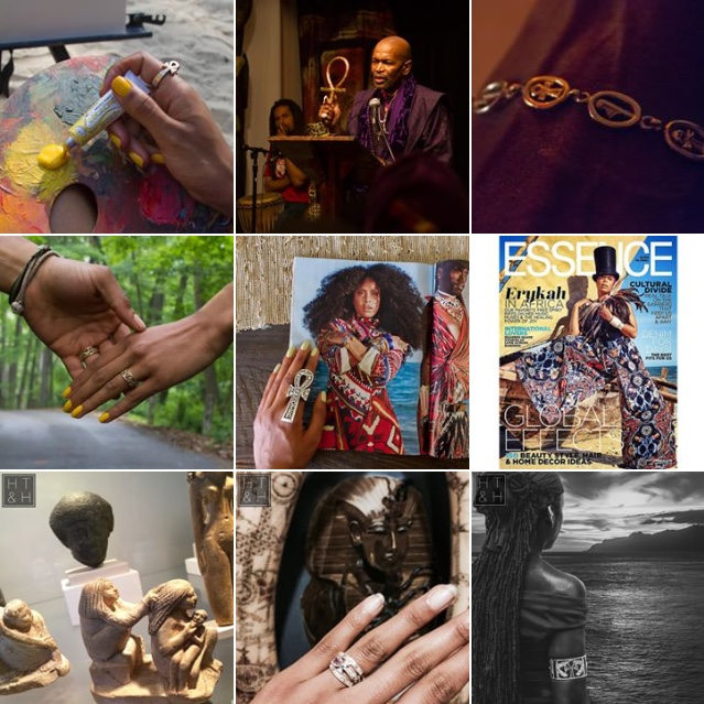 STUDIO OF PTAH - Studio of Ptah is a family run NYC based Independent Jewelry Company led by Heru Ankh-Ra Semahj and El-Aton Georges.  Together, they work to make Studio of Ptah a go to brand for those looking for fine jewelry that is not only beautiful but also meaningful and symbolic. Owner: Baba Heru Ankh-Ra SemahjWebsite: SOPtah.comInstagram: @StudioOfPtahInquiries: info@soptah.com