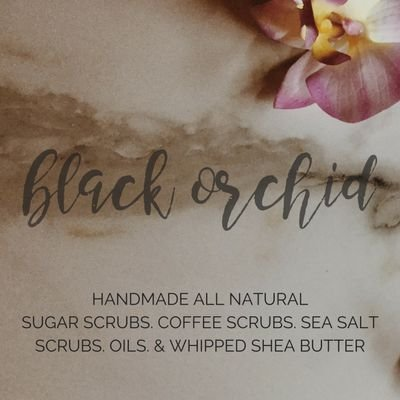 BLACK ORCHID BEAUTY - Handmade all-natural sugar scrubs, coffee scrubs, sea salt scrubs & whipped shea butter.Owner: Simone (@simonefiasco)Website: BlackOrchidBeauty.comTwitter: @BlackOrchid_BBO