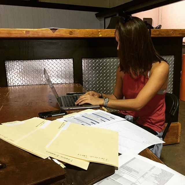 It's not all fun and drinking at #totc2016  Large amounts of cocktails requires large amounts of paper work and prep.. #getmoney #getsorted #getprepared #cocktailroadshow @talesofthecocktail