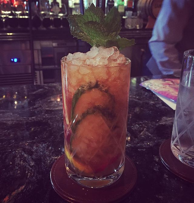 So great to have a @pimmsgb cup at the amazing @libertinesocial with @mdrnmixologist  Congrats and the space and wishing you more success!! #cocktails #mixology #craft #lasvegas #cocktailroadshow
