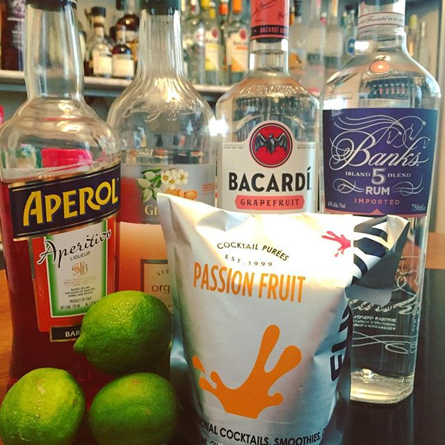 Despite the impending #hurricanematthew about to pay is a visit to #cocktailroadshow HQ, we will stay safe, hydrated and happy with the help of our riff on the appropriate classic #cocktail, @patobriens Hurricane: 1 oz @bacardiusa #grapefruit #rum 1 oz @banksrums 5 Island  0.5 oz @aperolusa  1 oz lime juice 1 oz Grapefruit juice  0.5 oz @funkin_usa #passionfruit #puree 0.75 oz @giffardusa #orgeat  #drinks #craft #cocktails #mixology #storm