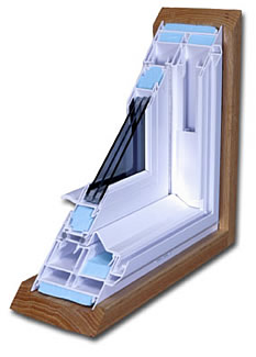 Split view of a park avenue double hung window