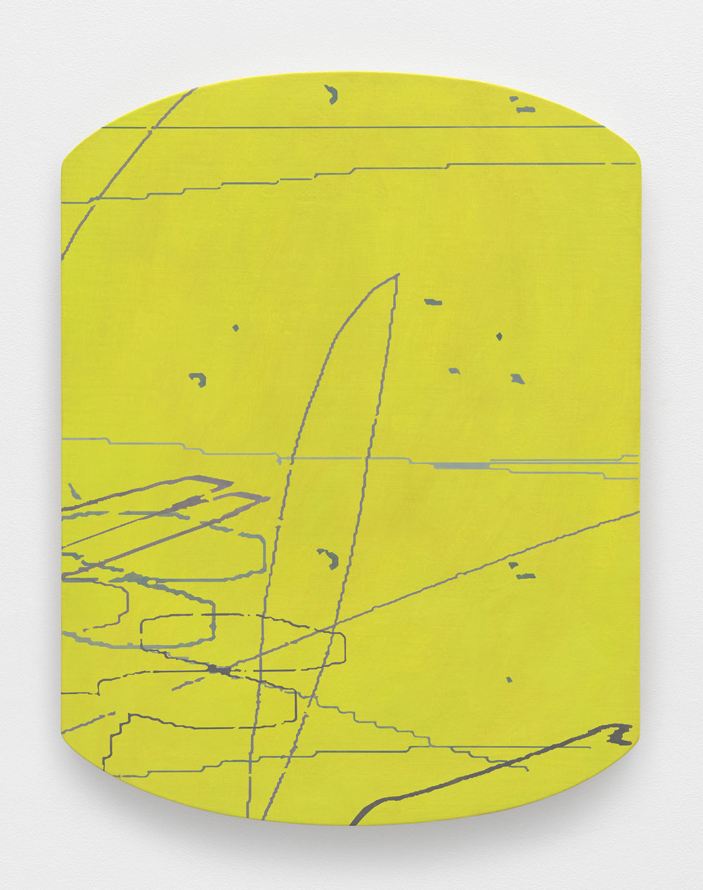 Variation: Carta I , 2014 oil on linen on shaped panel 27 x 20.75 inches